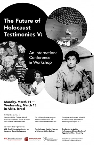 """Future of Holocaust Testimonies"" Conference in Akko, Israel"