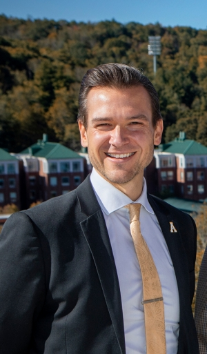 Appalachian alumnus Jonathan Kappler '05 is the 2019 recipient of the Appalachian Alumni Association's Young Alumni Award. Kappler serves as chief of staff to the deputy secretary for behavioral health and intellectual and developmental disabilities with the North Carolina Department of Health and Human Services. Photo by Marie Freeman