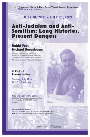 """Poster for the """"Anti-Judaism and Anti-Semitism: Long Histories, Present Dangers"""" event. Grahphic submitted."""