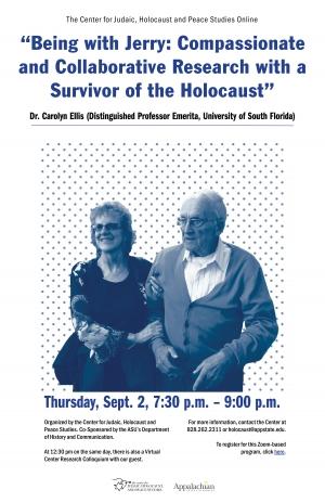 Dr. Carolyn Ellis virtual event poster