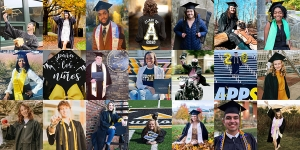 More than 1,700 Appalachian State University graduates were conferred degrees during the university's virtual Fall 2020 Commencement Dec. 11. This photo collage shows a handful of the numerous celebratory commencement photos shared by App State's Class of 2020 graduates via social media. Photos submitted