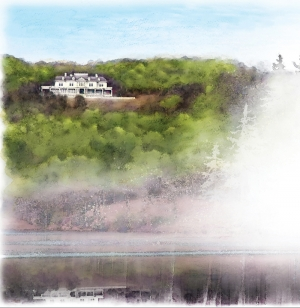 A collaborative partnership between Appalachian State University and Moses H. Cone Memorial Park has existed for more than a century and is one example of the interconnectedness of the High Country community with the Appalachian Experience. Illustrated is Flat Top Manor, part of the park's 3,500-acre estate located off the Blue Ridge Parkway in Blowing Rock. Illustration by Jim Fleri