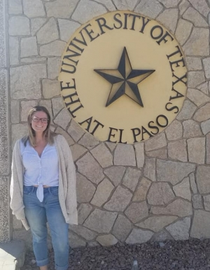 Appalachian senior Anna Biache at the University of Texas at El Paso, where she presented research on Latina deportation trends at the 2019 conference of the Association of Humanist Sociology. Biache, of Alexandria, Virginia, is majoring in sociology. Photo submitted