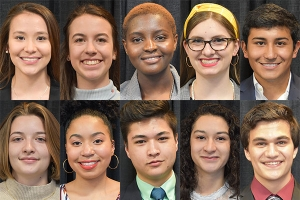 Ten first-year students at Appalachian State University have been awarded Diversity Scholarships for the 2019–20 academic year.  Photos by University Communications.