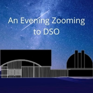 Virtual Evening events at DSO, via Zoom. Graphic of the facility.