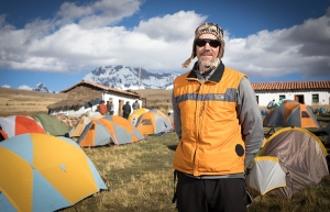 Dr. Baker Perry, professor in Appalachian's Department of Geography and Planning, on a study abroad in Pucarumi, Peru, at an altitude of 13,500 feet. Photo by Marie Freeman