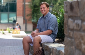 Appalachian's Bryan Hill, a computer science major from Summerfield. Photo by Chase Reynolds