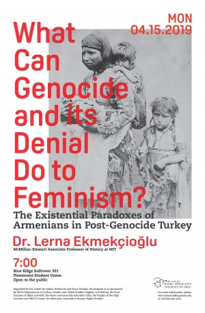 """""""What Can Genocide and its Denial Do to Feminism"""" flyer"""