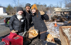 Student volunteers in Appalachian State University's 21st annual MLK Challenge