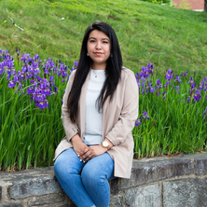 Nataly Jimenez, from High Point, is an Appalachian State University Honors College senior majoring in sociology-criminology, deviance and law, with a minor in psychology. After graduation, she plans to attend law school and become an immigration lawyer. Photo by Chase Reynolds