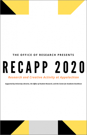The Office of research presents RECAPP 2020 Research and Creative Activity at Appalachian