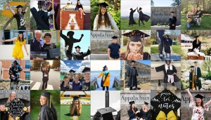More than 3,600 Appalachian graduates were conferred degrees during the university's virtual Spring 2020 Commencement. Numerous Class of 2020 graduates took to social media to share their celebratory commencement photos, some of which are shown in this photo collage. Photos submitted