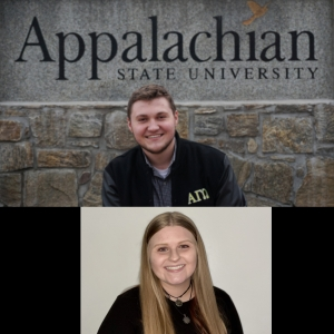 Top to Bottom: Nathan Minton graduated in December 2020 with a B.S. in history, social studies education. He completed his student teaching with Terry Henthorne at Hibriten High School in Caldwell County. Carman Crook is graduating with a B.S. in mathematics secondary education. She did her student teaching with Jessica Rowe at Wilkes Central High School in Wilkes County. Photos submitted.