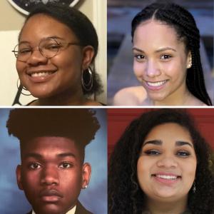 Fleming Scholars Myasia Carson, Amaya Crawford, Dy'Quan Kearney, and Gracie Staser