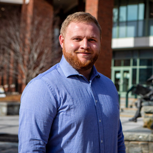 Joe Graber '20, from Tryon, earned a B.S. in computer science from Appalachian State University in December 2020 and is now working toward his master's degree in computer science through App State's Accelerated Admission program. Photo by Marie Freeman